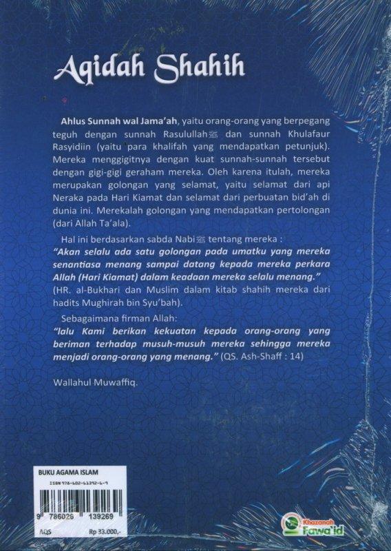 Cover Belakang Buku Aqidah Shahih Yang Wajib Diyakini Oleh Setiap Muslim