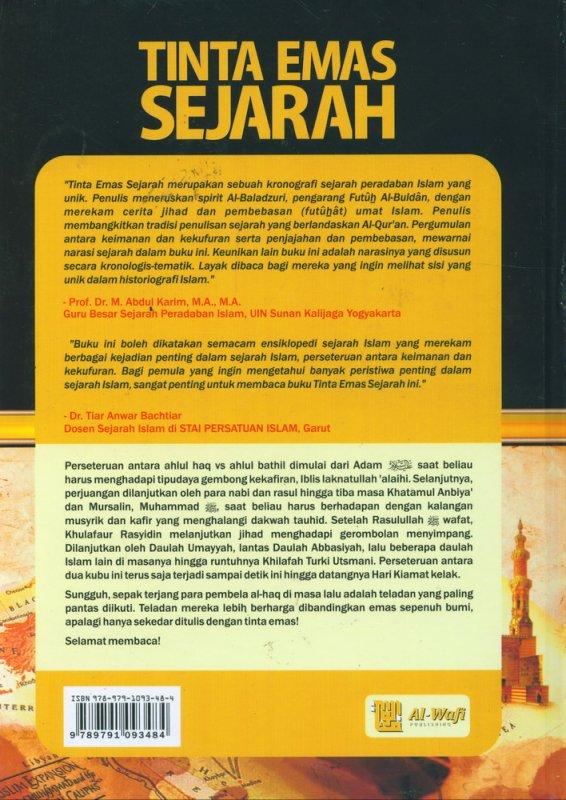 Cover Belakang Buku Tinta Emas Sejarah
