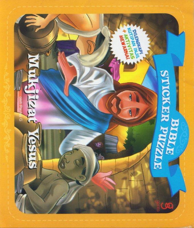 Cover Buku Bible Sticker Puzzle: Mukjizat Yesus (Dilengkapi Kutipan Injil+Aktivitas Mewarnai)