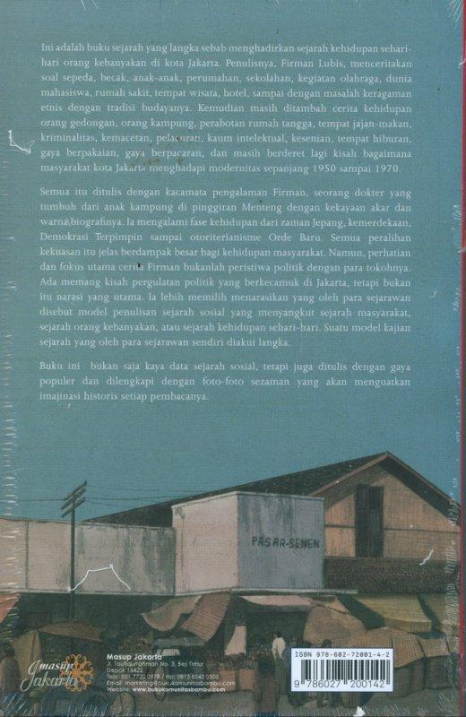Cover Belakang Buku Jakarta 1950-1970