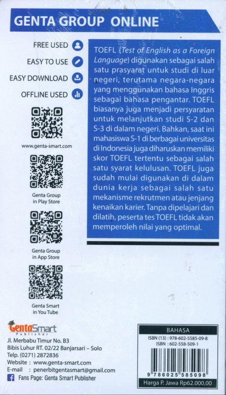 Cover Belakang Buku POCKET SHORTCUT TOEFL