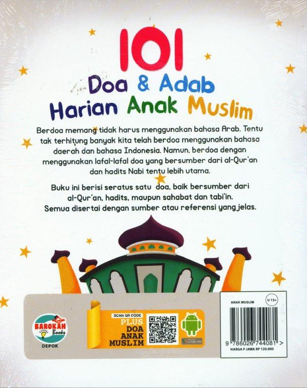 Cover Belakang Buku 101 Doa & Adab Harian ANak Muslim
