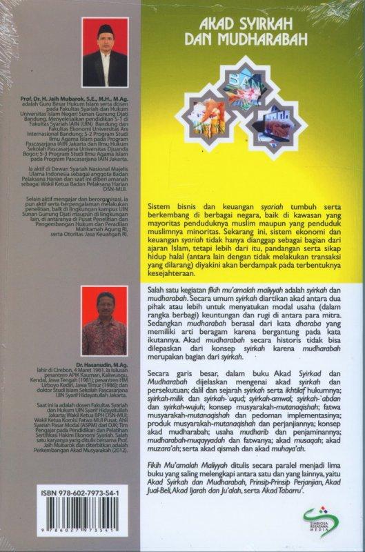 Cover Belakang Buku Fikih Muamalah Maliyyah: Akad Syirkah dan Mudharabah