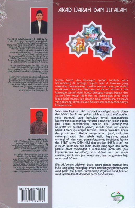Cover Belakang Buku Fikih Muamalah Maliyyah: Akad Ijarah dan Jualah