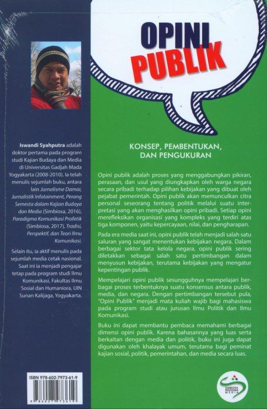 Cover Belakang Buku Opini Publik: Konsep Pembentukan dan Pengukuran