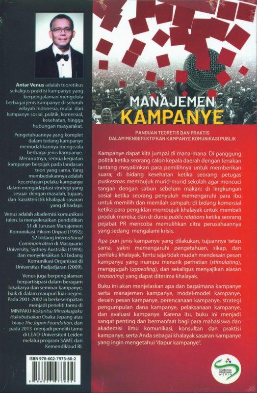 Cover Belakang Buku Manajemen Kampanye Edisi Revisi