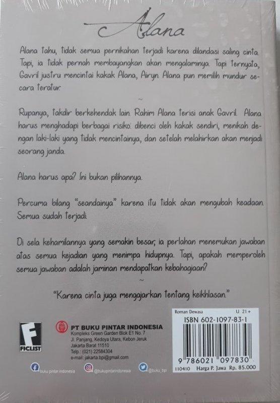 Cover Belakang Buku Alana : Romance Story