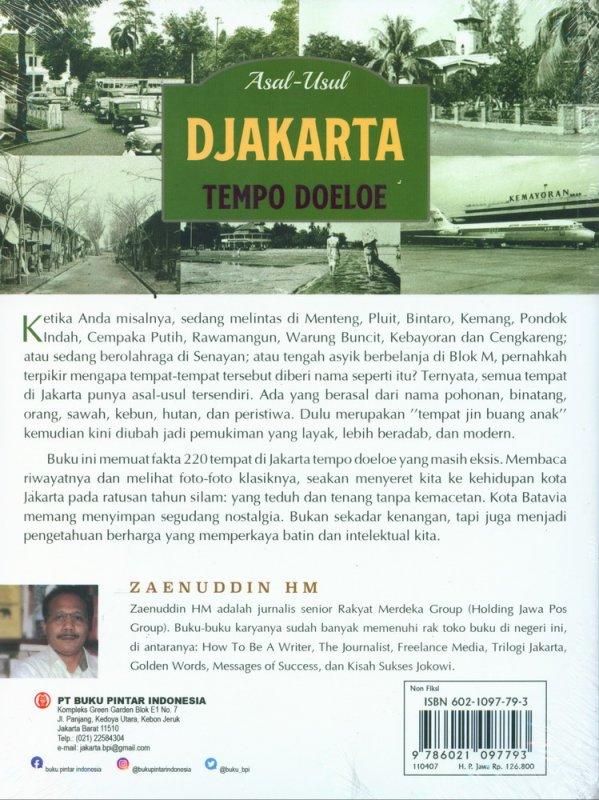 Cover Belakang Buku Asal-Usul Djakarta Tempo Doeloe