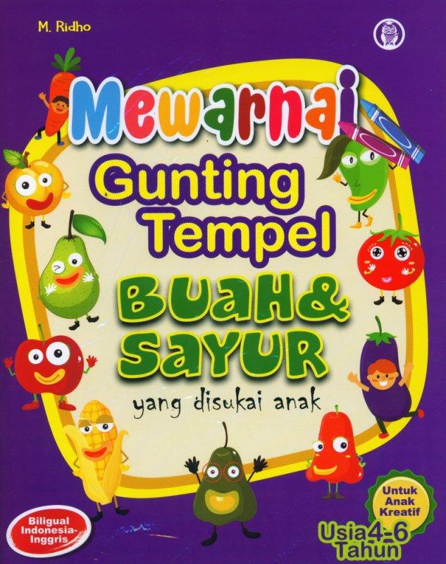 Cover Buku Mewarnai Gunting Tempel Buah & Sayur yang disukai anak