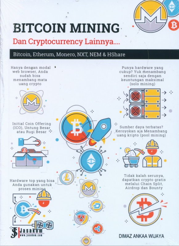 Cover Buku Bitcoin Mining Dan Cryptocurrency Lainnya