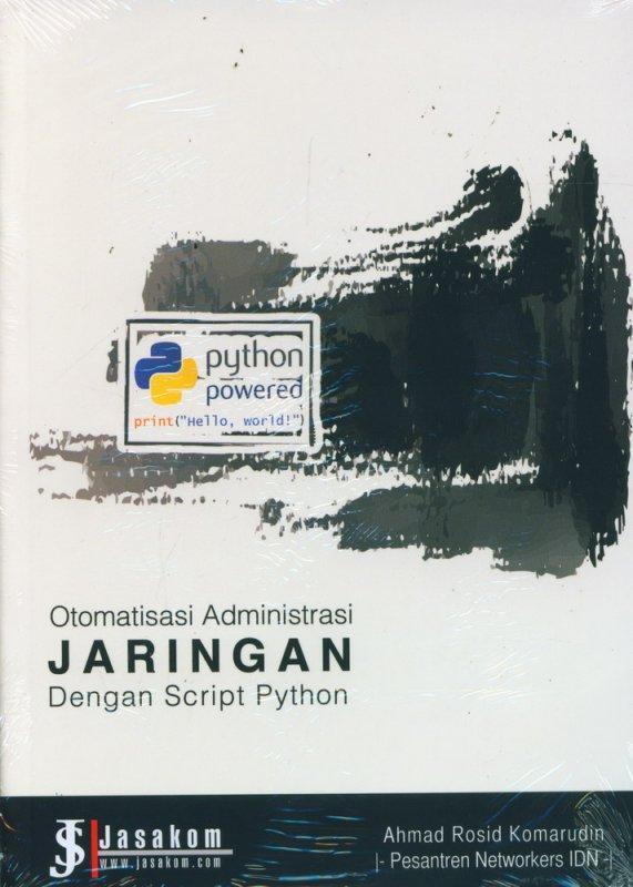 Cover Buku Otomatis Administrasi Jaringan Dengan Script Python