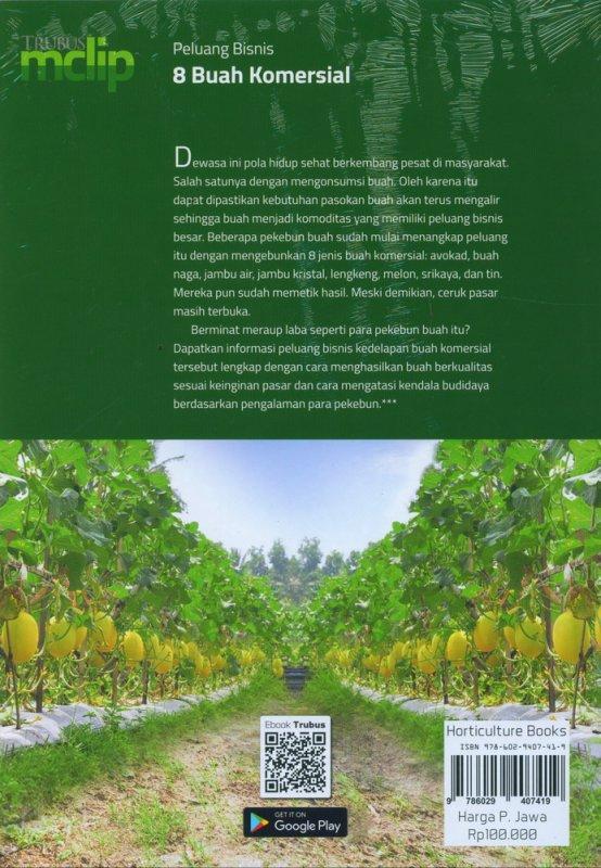 Cover Belakang Buku Peluang Bisnis 8 Buah Komersial