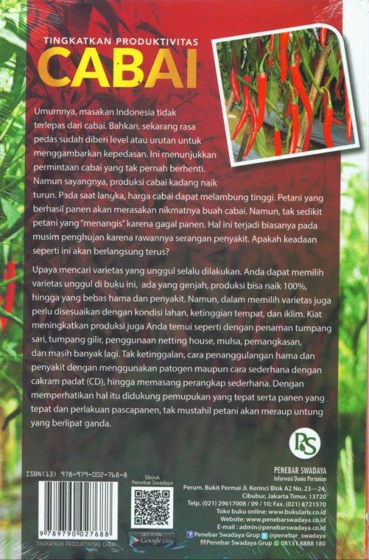Cover Belakang Buku Tingkatkan Produktivitas CABAI