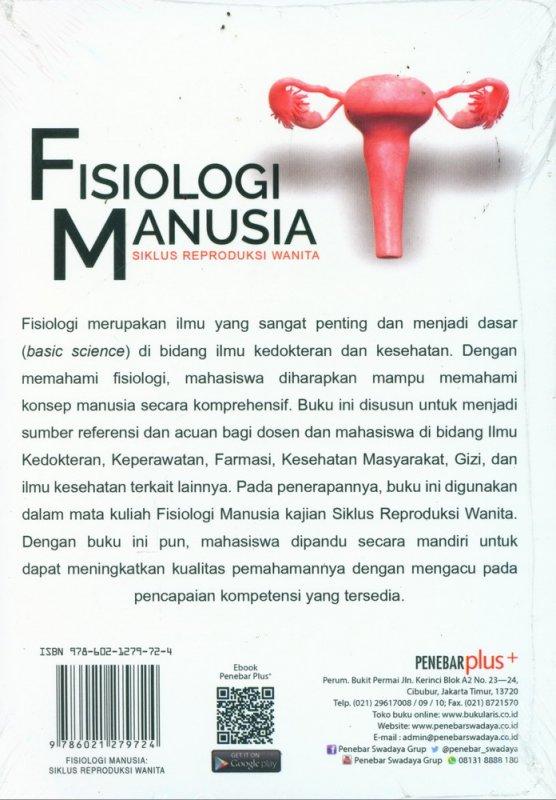 Cover Belakang Buku Fisiologi Manusia - Siklus Reproduksi Wanita