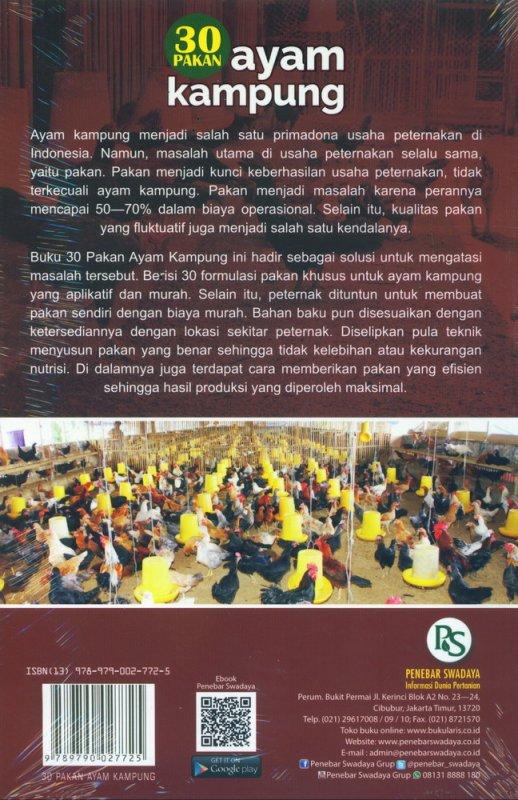 Cover Belakang Buku 30 Pakan Ayam Kampung