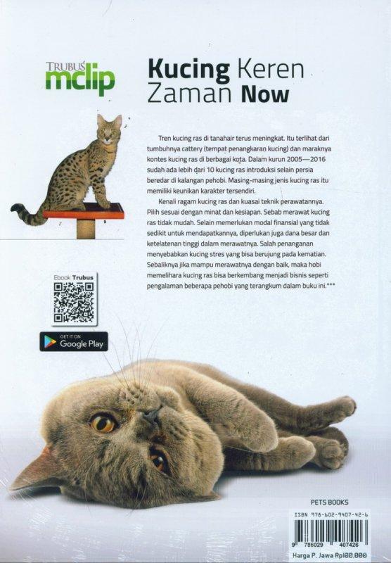 Cover Belakang Buku Kucing Keren Zaman Now