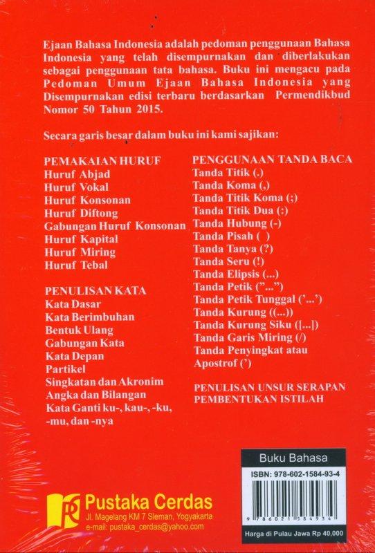 Cover Belakang Buku EBI - Pedoman Umum Ejaan Bahasa Indonesia