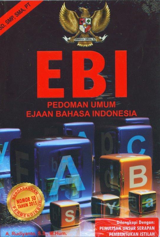 Cover Buku EBI - Pedoman Umum Ejaan Bahasa Indonesia