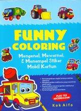 Funny Coloring: Mengenal Mewarnai & Menempel Stiker Mobil Kartun