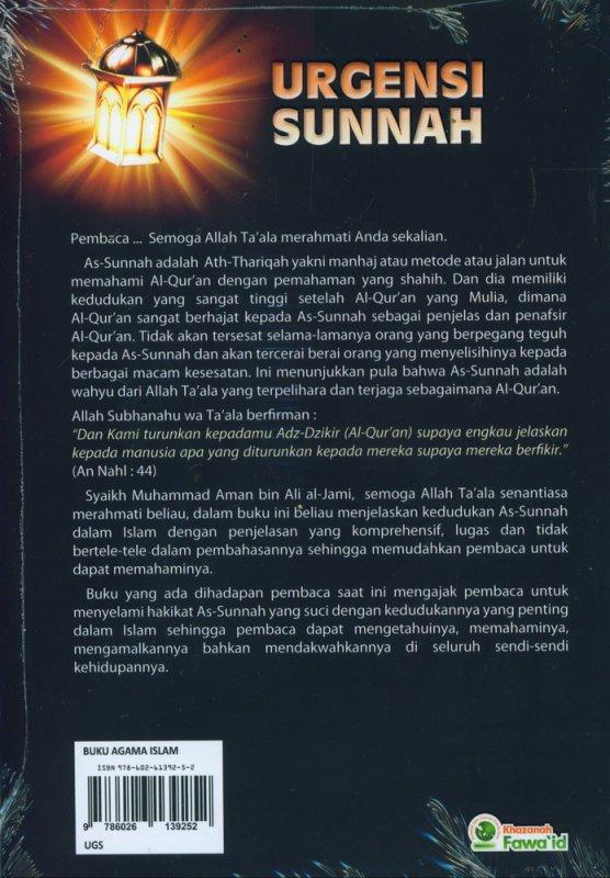 Cover Belakang Buku Urgensi Sunnah
