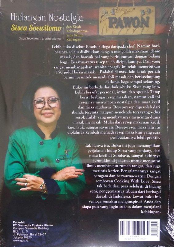 Cover Belakang Buku Hidangan Nostalgia ala Sisca Soewitomo + Kisah Hidup Penuh Kenangan