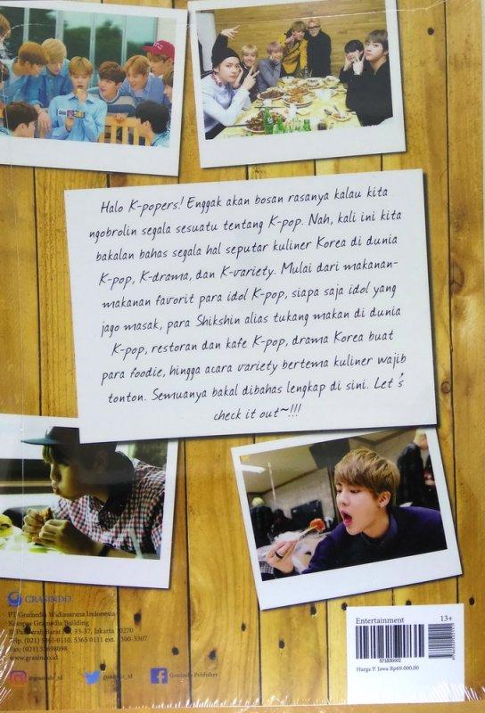 Cover Belakang Buku All About K-Food In K-POP, K-Drama & K-Variety
