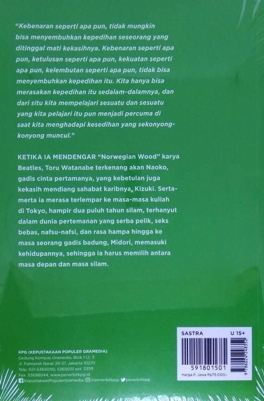 Cover Belakang Buku Norwegian Wood - Cover Baru 2018
