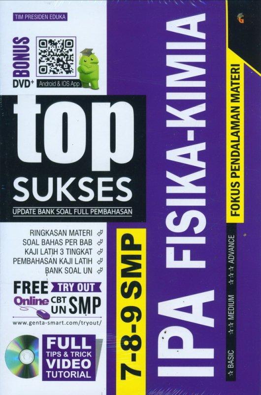 Cover Buku Top Sukses Update Bank Soal Full Pembahasan IPA FISIKA-KIMIA SMP 7-8-9