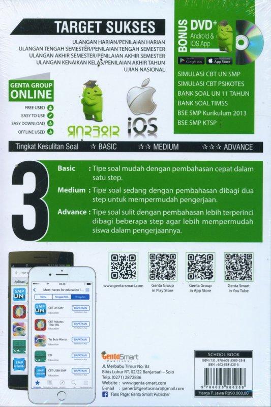 Cover Belakang Buku Top Sukses Update Bank Soal Full Pembahasan IPA BIOLOGI SMP 7-8-9