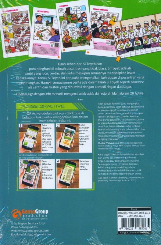 Cover Belakang Buku Si Toyeb: Suka-Cita Anak Pesantren (Novel Grafis)