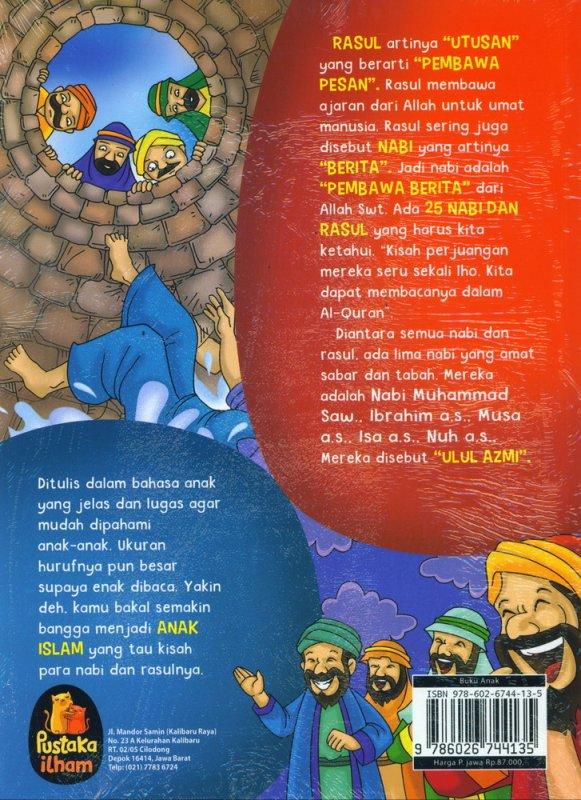 Cover Belakang Buku Aku Cinta Rasul - Kisah Teladan 25 Nabi & Rasul