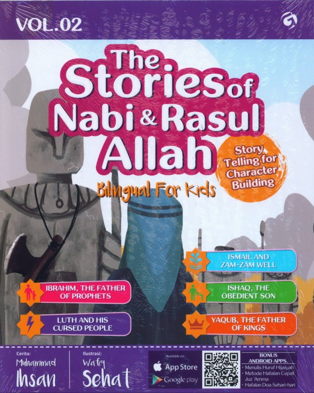 Cover Buku The Stories of Nabi & Rasul Allah Vol. 02 (Bilingual For Kids)