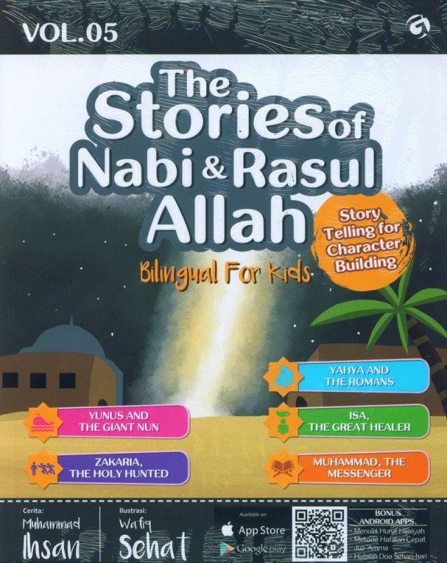 Cover Buku The Stories of Nabi & Rasul Allah Vol. 05 (Bilingual For Kids)