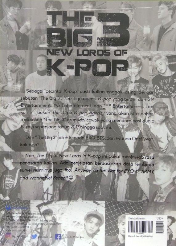 Cover Belakang Buku The Big 3 New Lords in K-Pop
