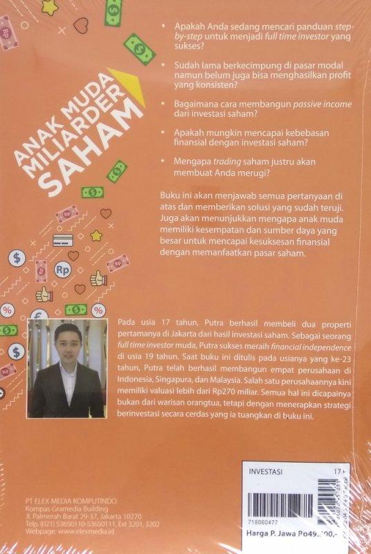 Cover Belakang Buku Anak Muda Miliarder Saham oleh Andika Sutoro Putra