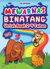 Mewarnai Binatang Untuk Anak 2-4 Tahun - Bonus Stiker