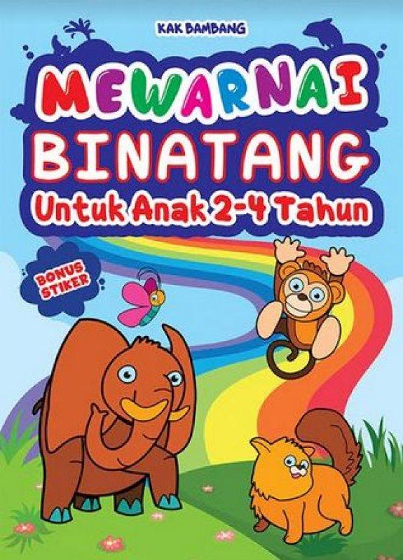 Cover Buku Mewarnai Binatang Untuk Anak 2-4 Tahun - Bonus Stiker