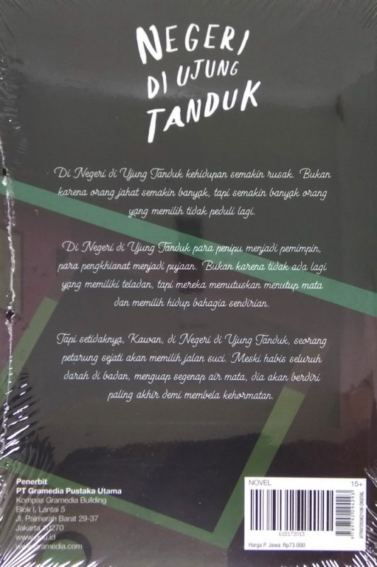 Cover Belakang Buku Negeri di Ujung Tanduk - Cover Baru 2018