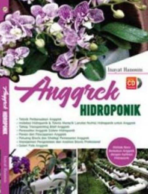 Cover Buku Anggrek Hidroponik+DVD