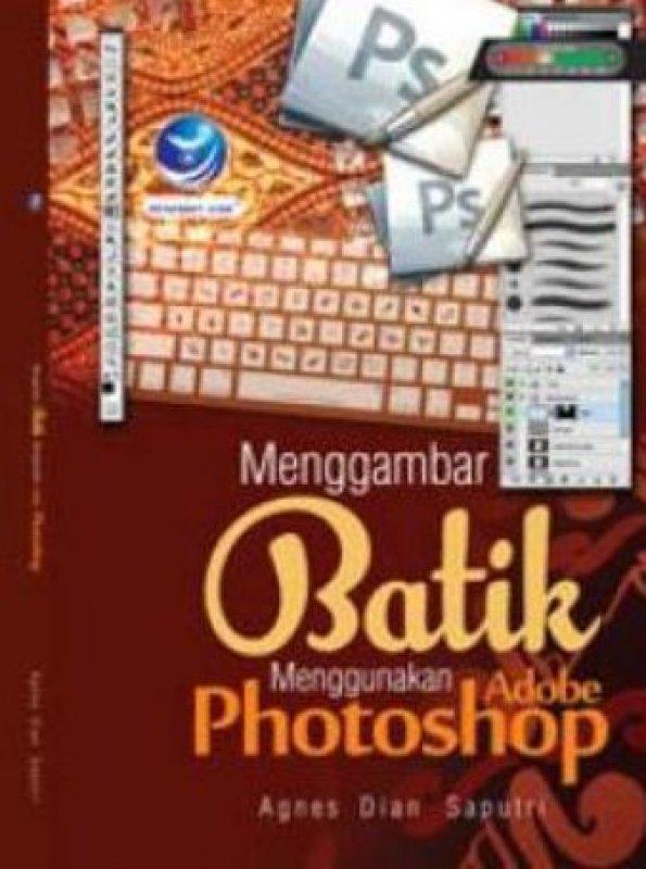 Cover Buku Menggambar Batik Menggunakan Adobe Photoshop