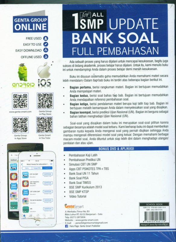Cover 1 for All SMP Update Bank Soal Full Pembahasan Kelas 7-8-9