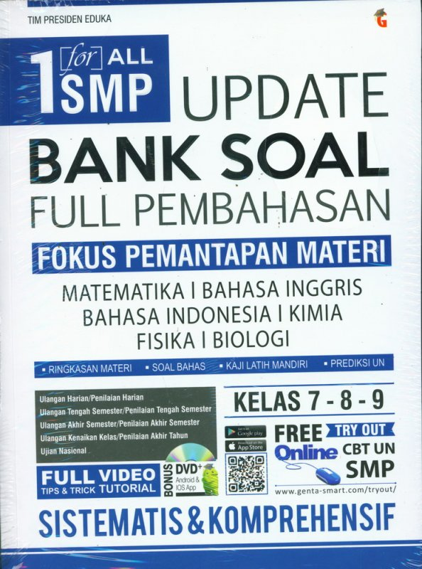 Cover Buku 1 for All SMP Update Bank Soal Full Pembahasan Kelas 7-8-9