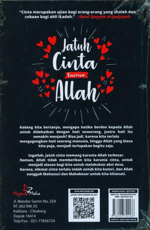Cover Belakang Buku Jatuh Cinta Karena Allah (Hard Cover)