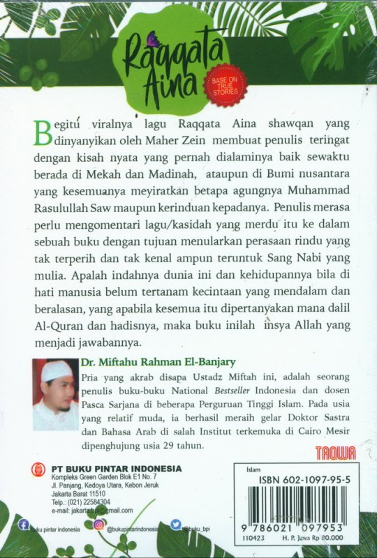 Cover Belakang Buku Raqqata Aina