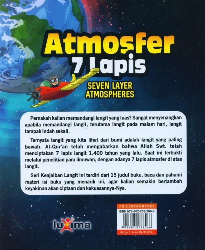 Cover Belakang Buku Seri Keajaiban Langit: Atmosfer 7 Lapis (Bilingual)
