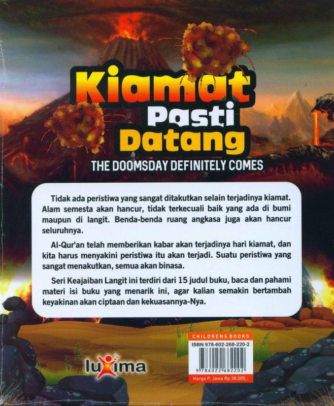 Cover Belakang Buku Seri Keajaiban Langit: Kiamat Pasti Datang (Bilingual)