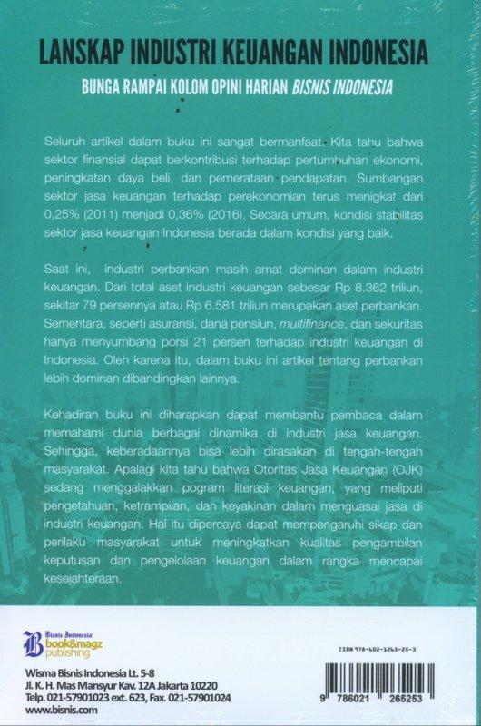 Cover Belakang Buku Lanskap Industri Keuangan Indonesia - Bunga Rampai Kolom Opini Harian Bisnis Indonesia