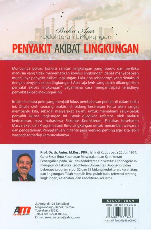 Cover Belakang Buku Buku Ajar Kedokteran Lingkungan Penyakit Akibat Lingkungan