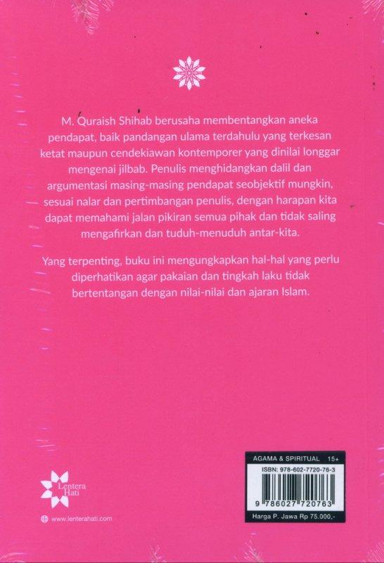 Cover Belakang Buku Jilbab Pakaian Wanita Muslimah - Edisi Terbaru