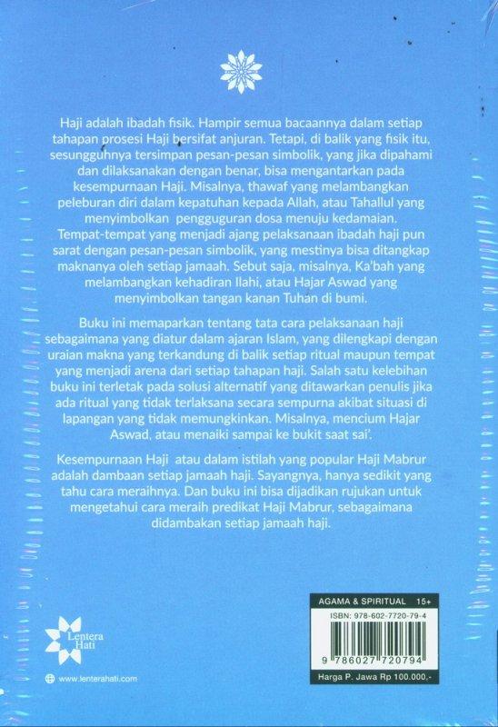 Cover Belakang Buku Haji dan Umrah Bersama M. Quraish Shihab - Edisi Baru